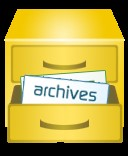 File cabinet with archived files