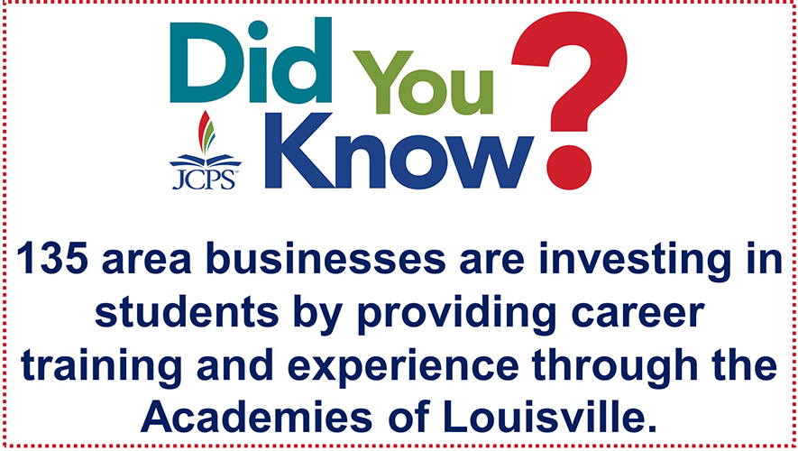 DYK Academies Partners: 135 area businesses are investing in students by providing career training and experience through the Academies of Louisville.