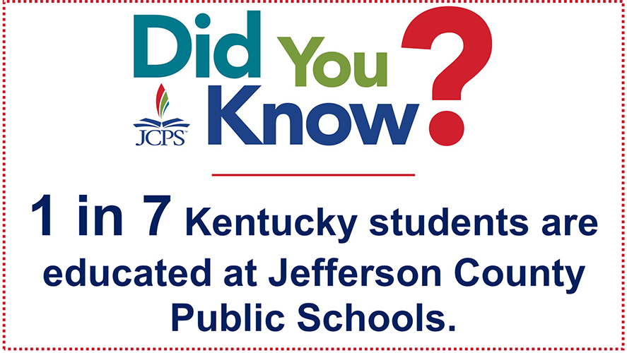 DYK Ky Students: 1 in 7 Kentucky students are educated at Jefferson County Public Schools.